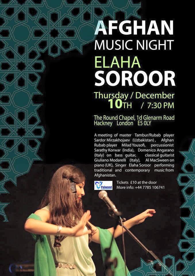 Afghan Music Night with Elaha Soroor, London – Dec 10th